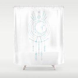 Mandala Crescent Moon Shower Curtain