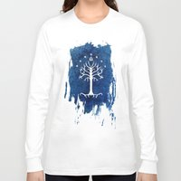 gondor Long Sleeve T-shirts featuring The White Tree by Jackie Sullivan
