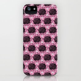 Roses Motif 2 illustration by Maxime Potvin iPhone Case