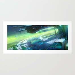 Interplanetary port Art Print