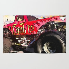 Monster Truck El Diablo Rug