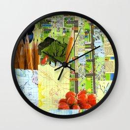 Little Red Fox Wall Clock