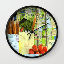 Little Red Fox Wall Clock