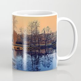 Winter mood on the river IV   waterscape photography Coffee Mug