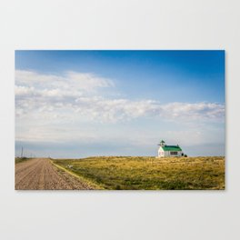 Snake Creek School, Valley County, Montana Canvas Print