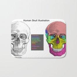 Human Skull Anatomy Bath Mat