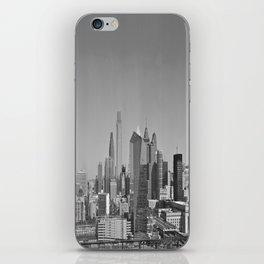 Black and White Philadelphia Skyline iPhone Skin