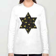 Bright Yellow Stars in Space , Cristmas Stars Long Sleeve T-shirt