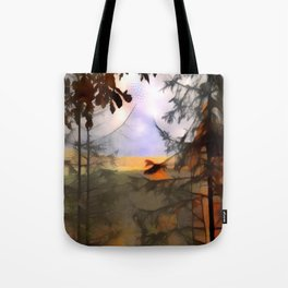 Distance Through Forest Tote Bag