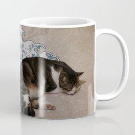 Cat and wave Coffee Mug