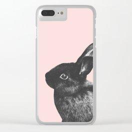 Little Rabbit on Blush #1 #decor #art #society6 Clear iPhone Case