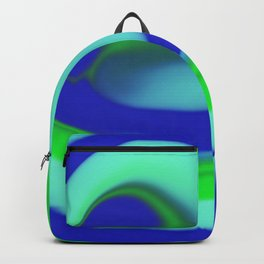 Green blue abstract pattern Backpack