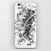 paris map iPhone & iPod Skins featuring PARIS by Nicksman