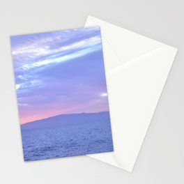 Rose Quartz and Serenity sunset. Stationery Cards