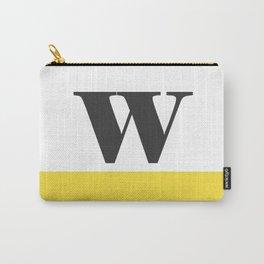 Monogram Letter W-Pantone-Buttercup Carry-All Pouch