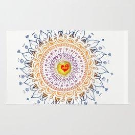 Shinning Heart Zentangle Rug