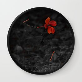 Red on Black Wall Clock