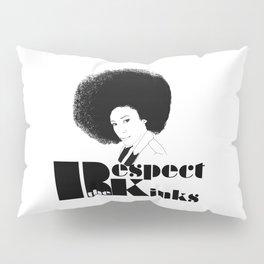 Respect the Kinks Natural Hair Positive Affirmation. Pillow Sham