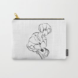 Tulips Ink Drawing Carry-All Pouch