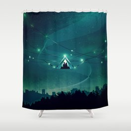 Wireless Camping Shower Curtain