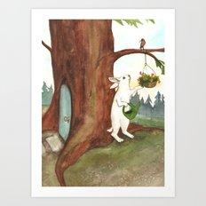 Rabbit at Home Art Print
