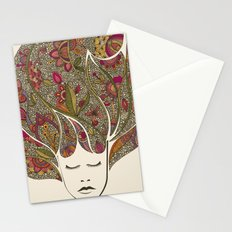 Dreaming with flowers Stationery Cards