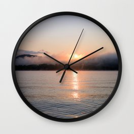 Reborn: Sunrise on Lake George Wall Clock