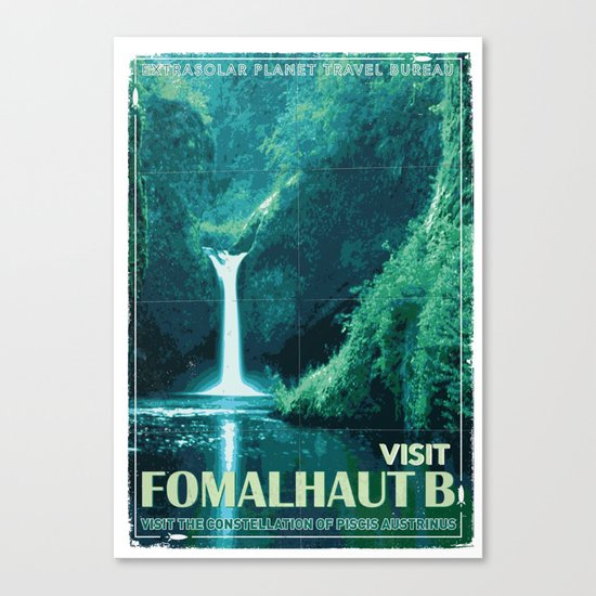 My Exoplanetary Travel Poster: Formalhaut B Canvas Print