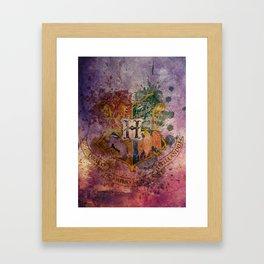 Hogwarts Crest Framed Art Print
