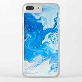 Fluid Blue 3 Clear iPhone Case
