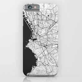 Marseille Map Gray iPhone Case