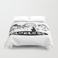 clueless Duvet Covers featuring Clueless by ☿ cactei ☿