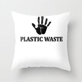 Plastic Waste Throw Pillow