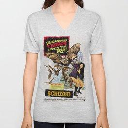 Schizoid, vintage horror movie poster Unisex V-Neck