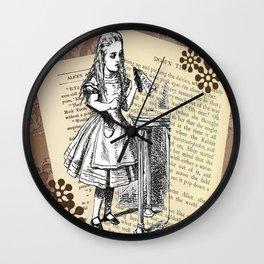 'Drink me' - Original Illustration  Wall Clock