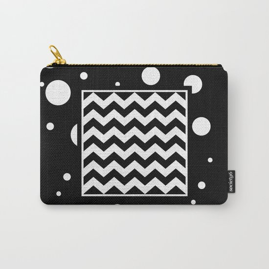 Chevron And Fizz Carry-All Pouch