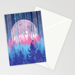 Rainy forest Stationery Cards