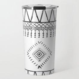Gray Boho Aztec Travel Mug