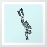 diver Art Prints featuring Diver by Hinterlund