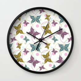 Butterfly. Wall Clock