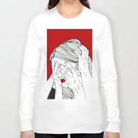 introvert Long Sleeve T-shirts featuring Introvert 3 by Heidi Banford