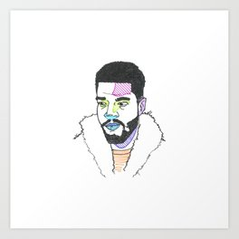 The Rapper-a-day Project | Day 23: KidCudi Art Print