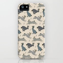 Jackalope Snow Parade iPhone Case
