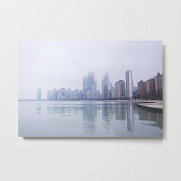 Misty Chicago skyline Metal Print