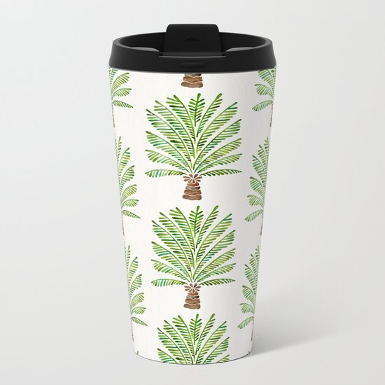 Palm Tree – Green Metal Travel Mug