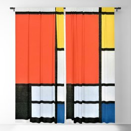 12,000pixel-500dpi - Composition With Red, Yellow, Blue, And Black - Piet Mondrian Blackout Curtain