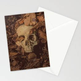 Catacomb Culture - Human Skull Forest Stationery Cards