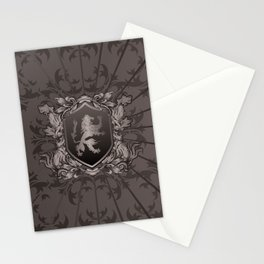 Vintage Heraldic Lion Coat of Arms Stationery Cards