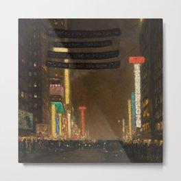 Midtown Manhattan - New York City Night Scene painting by T.S. Simon Metal Print
