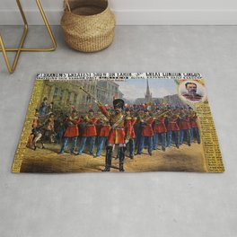 1879 P.T. Barnum's Great London Circus Vintage Advertisement Poster Rug